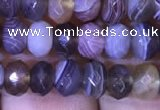 CRB1994 15.5 inches 4*6mm faceted rondelle Botswana agate beads