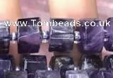 CRB2015 15.5 inches 7mm - 8mm faceted tyre amethyst beads