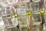 CRB2032 15.5 inches 11mm - 12mm faceted tyre lemon quartz beads