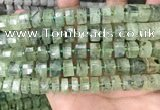 CRB2042 15.5 inches 11mm - 12mm faceted tyre prehnite beads