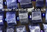 CRB2135 15.5 inches 7mm - 8mm faceted tyre sodalite gemstone beads