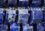 CRB2140 15.5 inches 7mm - 8mm faceted tyre lapis lazuli beads