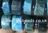 CRB2146 15.5 inches 9mm - 10mm faceted tyre apatite gemstone beads