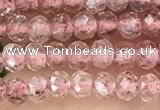 CRB2235 15.5 inches 2*3mm faceted rondelle strawberry quartz beads