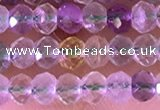 CRB2261 15.5 inches 3*4mm faceted rondelle fluorite beads