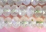 CRB2273 15.5 inches 4*6mm faceted rondelle prehnite beads