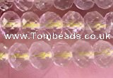 CRB2275 15.5 inches 4*6mm faceted rondelle lemon quartz beads