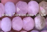 CRB2278 15.5 inches 5*8mm faceted rondelle morganite beads