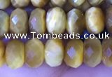 CRB2289 15.5 inches 4*6mm faceted rondelle golden tiger eye beads