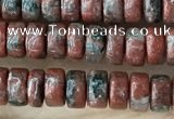 CRB2569 15.5 inches 2*4mm heishi brecciated jasper beads wholesale