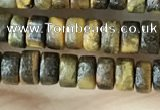 CRB2573 15.5 inches 2*4mm heishi yellow tiger eye beads wholesale