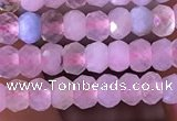 CRB2605 15.5 inches 2*3mm faceted rondelle morganite beads
