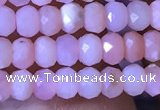 CRB2615 15.5 inches 2*3mm faceted rondelle pink opal beads