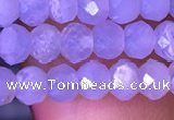 CRB2627 15.5 inches 3*4mm faceted rondelle blue chalcedony beads
