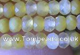 CRB2634 15.5 inches 2*3mm faceted rondelle yellow opal beads