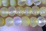 CRB2635 15.5 inches 3*4mm faceted rondelle yellow opal beads