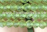 CRB2638 15.5 inches 3*4mm faceted rondelle peridot gemstone beads