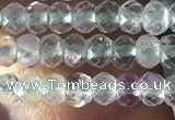CRB2639 15.5 inches 2*3mm faceted rondelle fluorite gemstone beads