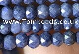 CRB2641 15.5 inches 2*3mm faceted rondelle sapphire beads