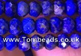 CRB2647 15.5 inches 3*4mm faceted rondelle lapis lazuli beads