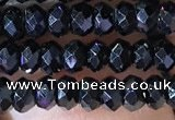 CRB2650 15.5 inches 2*3mm faceted rondelle black spinel beads