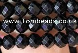 CRB2651 15.5 inches 3*4mm faceted rondelle black spinel beads