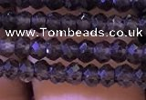 CRB2663 15.5 inches 2*3mm faceted rondelle smoky quartz beads