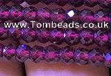 CRB2665 15.5 inches 2*3mm faceted rondelle red garnet beads
