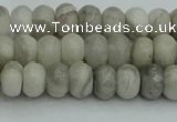 CRB2860 15.5 inches 4*6mm rondelle grey agate beads