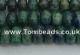 CRB2891 15.5 inches 5*8mm rondelle chrysocolla beads wholesale