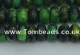 CRB2896 15.5 inches 5*8mm rondelle chrysocolla beads wholesale