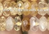CRB3013 15.5 inches 6*10mm faceted rondelle citrine beads