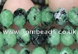 CRB3037 15.5 inches 5*8mm faceted rondelle ruby zoisite beads