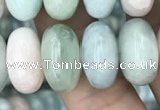 CRB3064 15.5 inches 8*14mm rondelle morganite gemstone beads