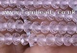 CRB3100 15.5 inches 2*3mm faceted rondelle tiny white crystal beads