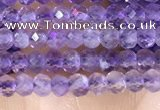 CRB3102 15.5 inches 2*3mm faceted rondelle tiny light amethyst beads