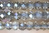 CRB3105 15.5 inches 2*3mm faceted rondelle tiny smoky quartz beads
