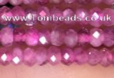 CRB3110 15.5 inches 2*3mm faceted rondelle tiny pink tourmaline beads