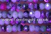 CRB3120 15.5 inches 2*3mm faceted rondelle tiny ruby zoisite beads