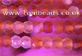 CRB3126 15.5 inches 2*3mm faceted rondelle tiny red agate beads