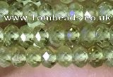 CRB3156 15.5 inches 2.5*4mm faceted rondelle tiny peridot beads