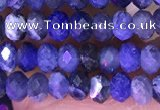 CRB3176 15.5 inches 2.5*4mm faceted rondelle tiny sodalite beads