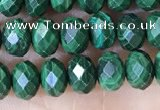 CRB3193 15.5 inches 4*6mm faceted rondelle tiny malachite beads