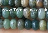 CRB4043 15.5 inches 4*6mm rondelle Indian Agate beads wholesale