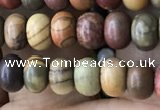 CRB4053 15.5 inches 4*6mm rondelle picasso jasper beads wholesale