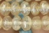 CRB4111 15.5 inches 5*8mm faceted rondelle yellow watermelon beads