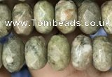 CRB4117 15.5 inches 5*8mm faceted rondelle Chinese unakite beads