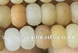 CRB5002 15.5 inches 4*6mm rondelle matte yellow aventurine beads