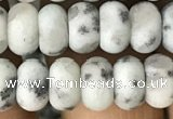 CRB5010 15.5 inches 4*6mm rondelle matte sesame jasper beads