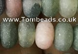 CRB5069 15.5 inches 5*8mm rondelle matte Indian agate beads wholesale